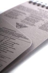 Field Notes, Reporterblock, Detail, Innenfach,