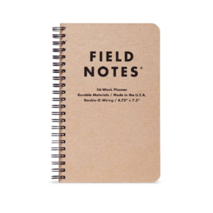 56-Week Planner, Field Notes, braunes Cover, Spiralbindung,