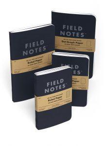 Field Notes, Pitch Black, Notizhefte, zwei Größen, schwarzes Cover,