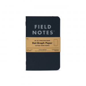 Field Notes, Pitch Black, set of three, Notizhefte, USA,