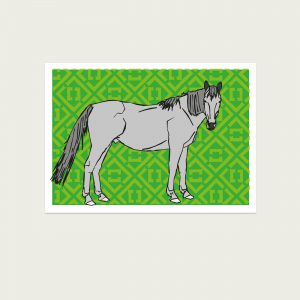UMWERK - Tierkreiszeichen Postkarte PFERD