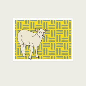 UMWERK - Tierkreiszeichen Postkarte SCHAF