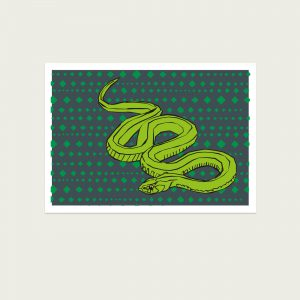 UMWERK - Tierkreiszeichen Postkarte SCHLANGE