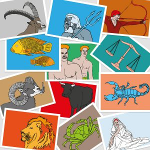 UMWERK - Sternzeichen Postkarten