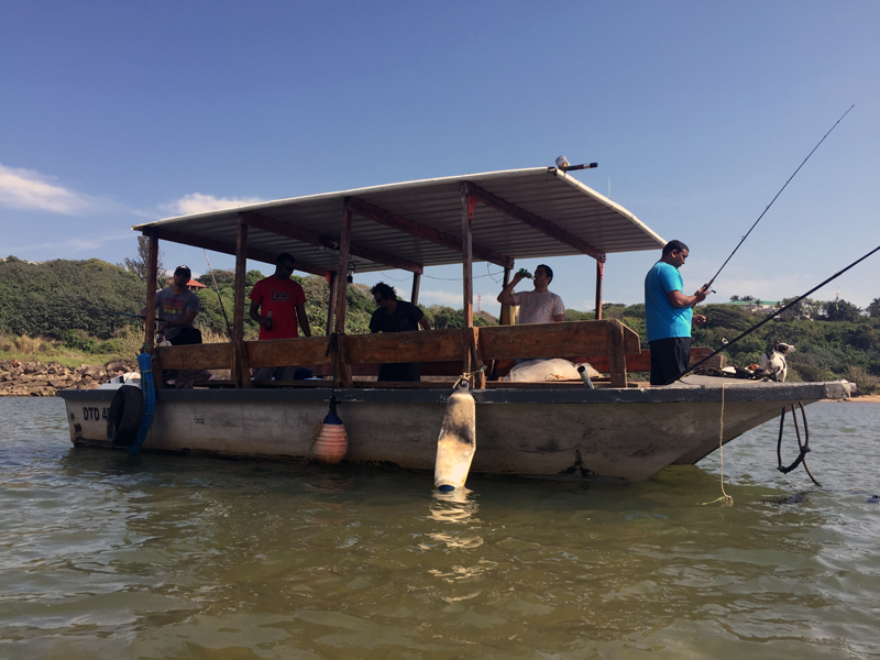 Fishing the Umzimkulu Mouth for grunter and things...