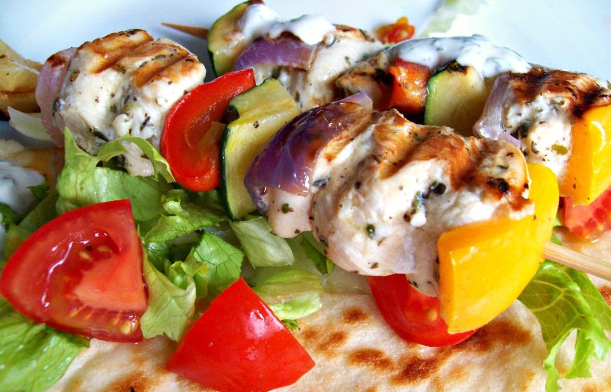 Brochettes de poulet à la grecque (kebab)