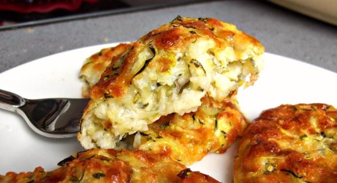 Galettes moelleuses courgettes et mozzarella