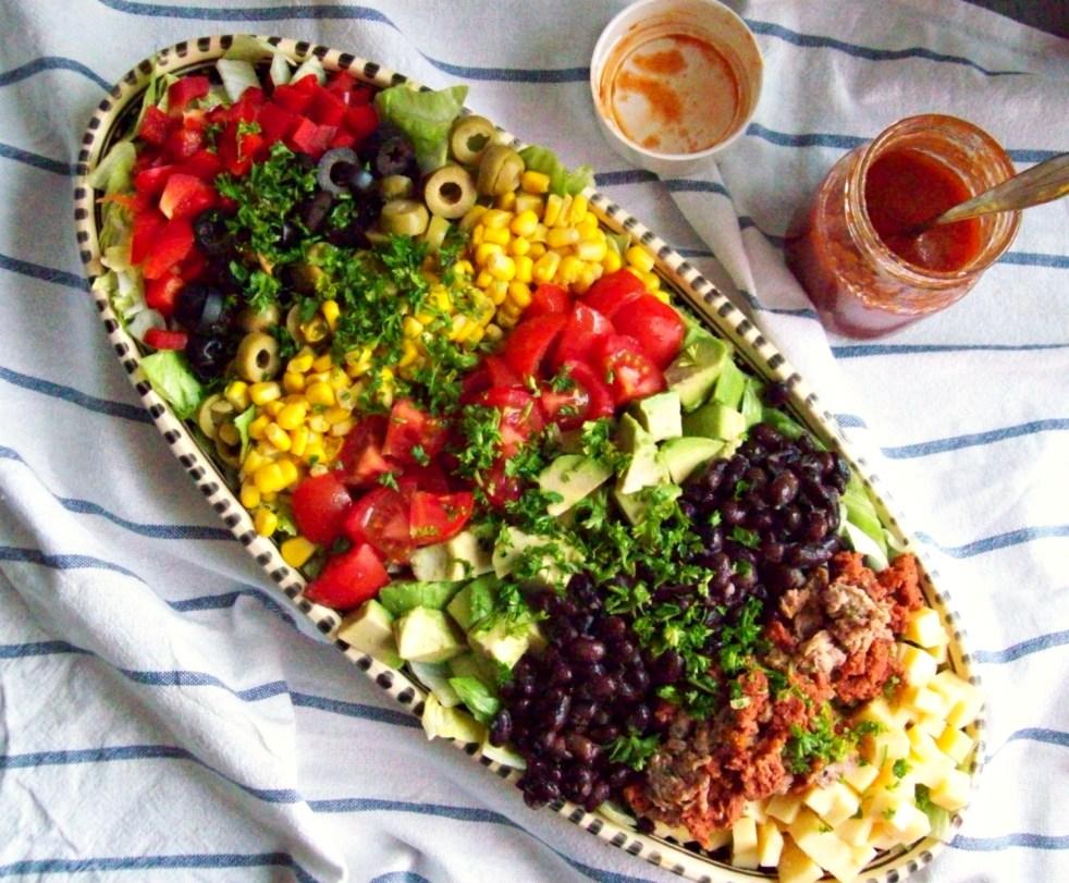 Salade mexicaine à la sauce catalane