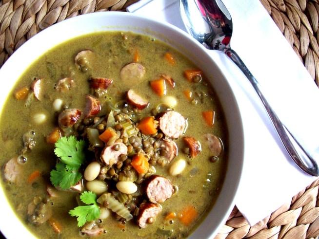66-soupe-de-lentilles-vertes-au-curry-et-saucisses