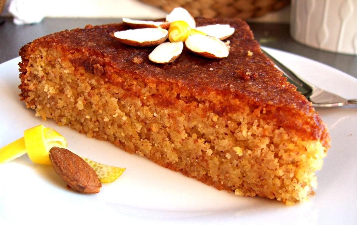 Gâteau aux amandes, citron et polenta