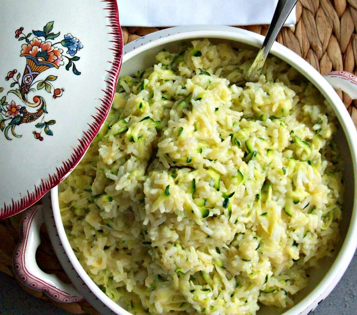 Riz moelleux à la courgette et au fromage