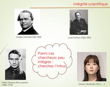 Quelques figures emblématiques de la recherche ... Toujours intègres ?