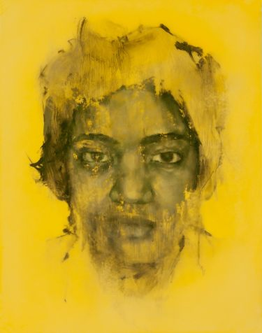 Yellow (Freedom Riders), 2018 (Set of 17) Oil on Mylar 9 x 11in (Residency)