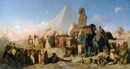 Cambyses et Psammenitus by Adrian Guignet (wikimedia.org) Nubian Egypt