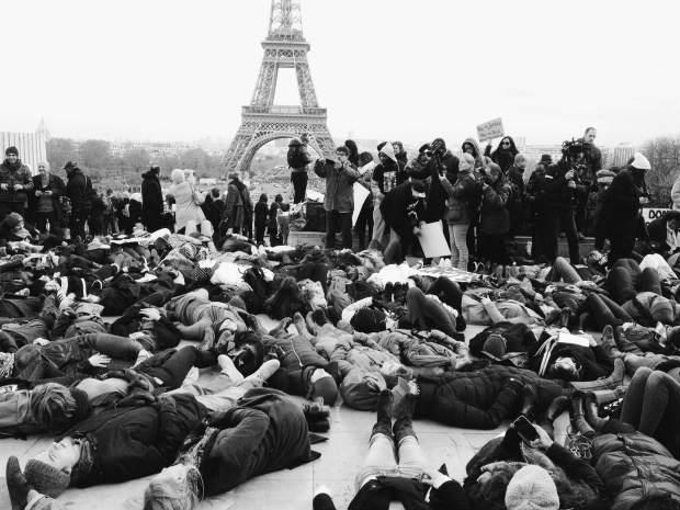 Solidarity protests in Paris