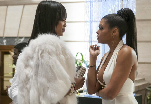 "EMPIRE: Cookie (Taraji P. Henson, R) meets Camilla (guest star Naomi Campbell, L) in the ""The Lyon's Roar"" episode of EMPIRE airing Wednesday, Feb. 25 (9:01-10:00 PM ET/PT) on FOX. ©2015 Fox Broadcasting Co CR: Matt Dinnerstein/FOX"