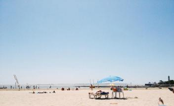 The beach at Royan