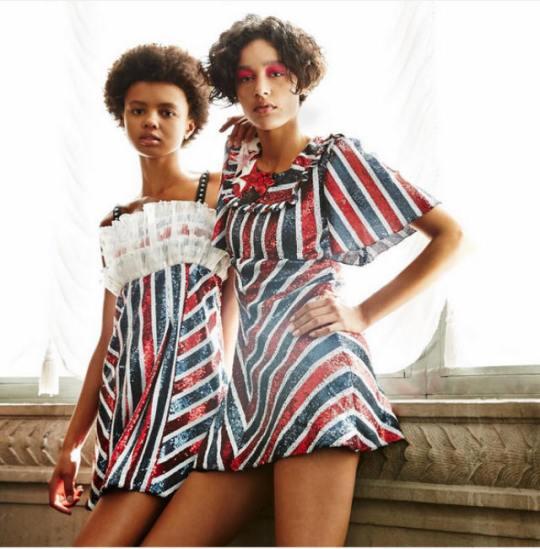 Giambattista Valli's duo, Poppy Katcha and Damaris Goodrie make a solid case for short hair.