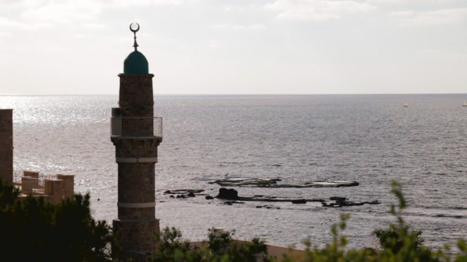 Many aren't aware that Israel (particularly Jerusalem) is home to the some of the world's major religions, and it's not uncommon to see symbols of each faith. Here we see the minaret of the Mahmoudiya Mosque of Jaffa.