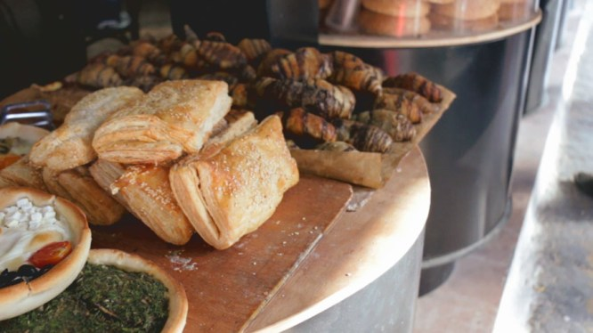"""Abulafia bakery is regarded as an institution in Jaffa (the """"Old City"""" in Tel Aviv). A few steps from the famous clock tower, stop by Abulafia to get a taste of authentic Israeli pastries and more."""