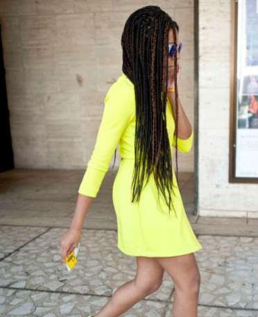 Solange During Fashion Week