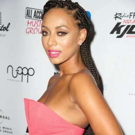 Keri Hilson half up box braids