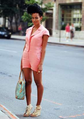 Solange Long Box Braids Top Bun