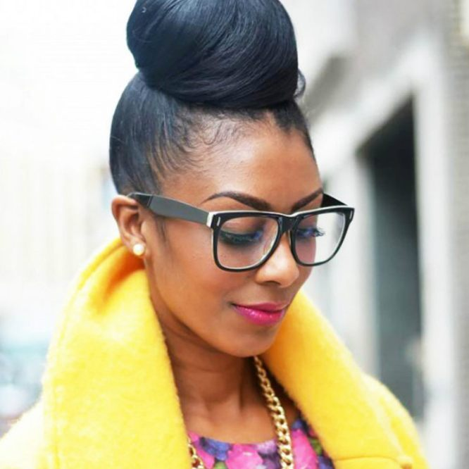 BlackHair_Top_Knot_Bun_Straight