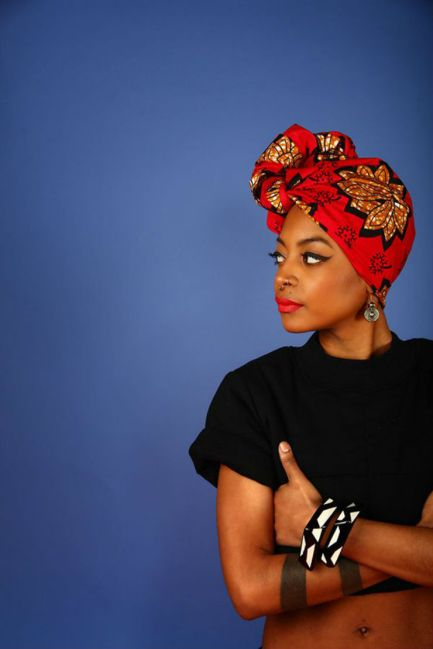 Black_Hair_Headwrap_Scarf_Print_Red