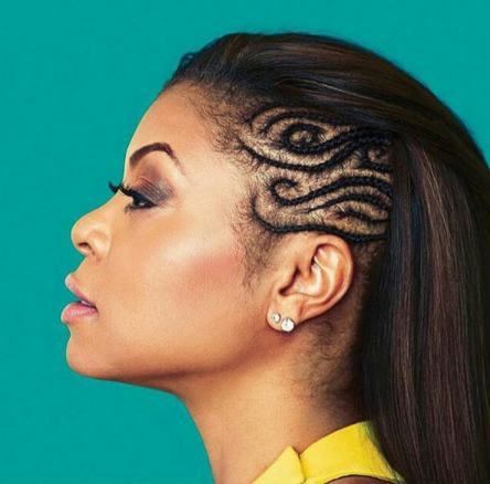 Black_Hair_TarajiPHenson_Cornrows_Side_Spiral