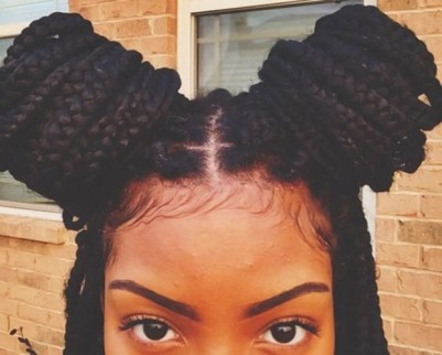 box-braids-double-bun