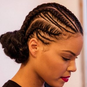 Black_Hair_Cornrows_Low_Bun_