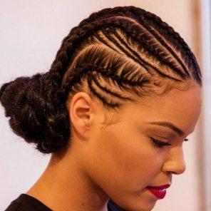Black_Hair_Cornrows_Low_Bun_
