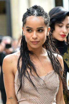 Zoe Kravitz And The Goddess Box Braids Trend Un Ruly