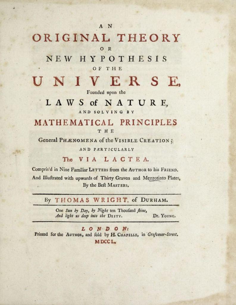 Оригинальная теория или новая гипотеза Вселенной Томаса Райта (1750 г.) 3