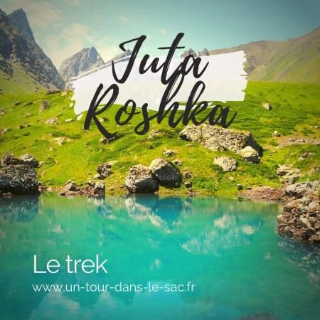 Trek Roshka vers Juta par les lacs, Géorgie
