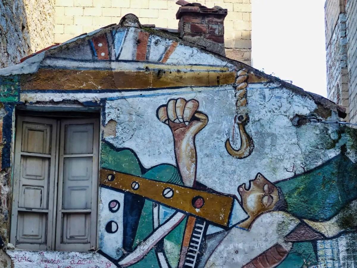 maison fresque Orgosolo Sardaigne