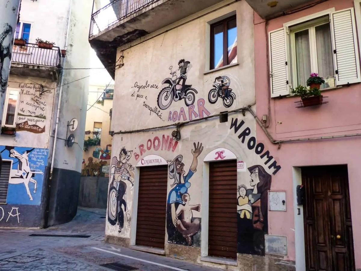 Rue Orgosolo Street art sardaigne