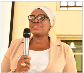Representative of the Deputy Vice-Chancellor (Academic) and Deputy Registrar II, Establishment Matters and Human Resources (Senior), Mrs. Oluwakemi Banuso, addressing the students during the training programme.