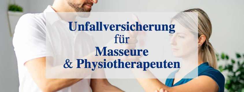 Unfallversicherung für Masseur und Physiotherapeut