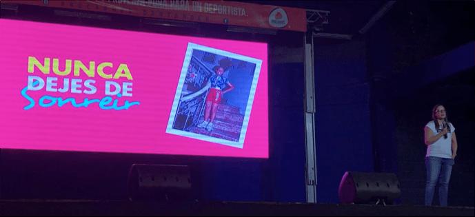 "Cecilia Baena ""la Chechi Baena"" participó en el festival vitalfit"