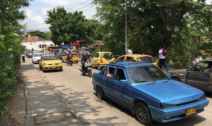 Día sin carro voluntario en Girón