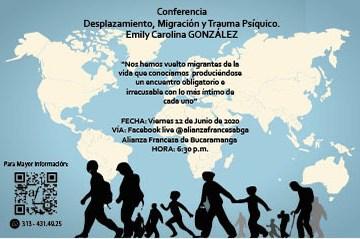 """Conferencia  """"Desplazamiento, Migración y Trauma psíquico"""""""