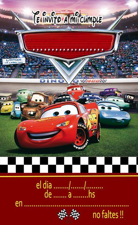 invitaciones cars