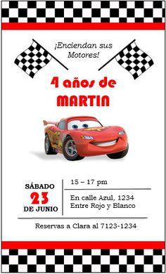 invitacion digital cars