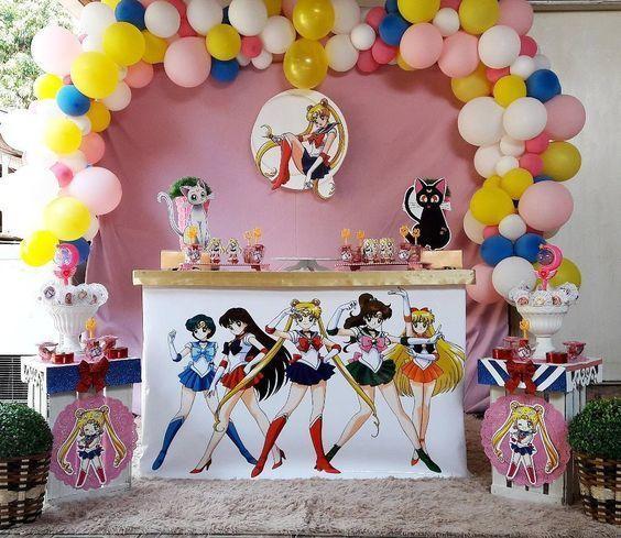 ideas para un cumpleaños de sailor moon
