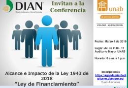 Conversatorio de divulgación sobre el  Alcance e Impacto de la Ley 1493 de 2018, «Ley de Financiamiento»
