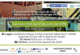 Régimen Aduanero Decreto 1165 del 2 de Julio de 2019