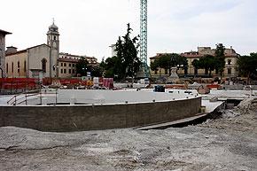 Piazza Vittorio Emanuele, un cantiere ancora aperto