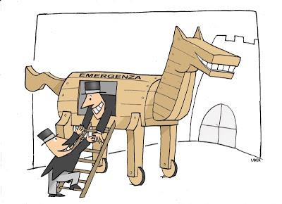 Un cavallo di Troia lungo 2.000 metri